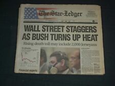 2001 SEPTEMBER 18 THE STAR-LEDGER NEWSPAPER - WALL STREET STAGGERS - NP 3477
