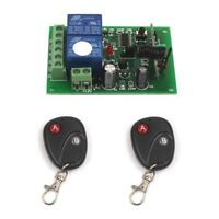 Hot DC 12V 10A Relay 2CH Channel wireless Remote Switch 2 Transmitter+ Receiver