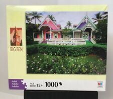 New Sealed MB Big Ben 1000 Pcs Puzzle Mustique St. Vincent & Gardenias  20 x 26