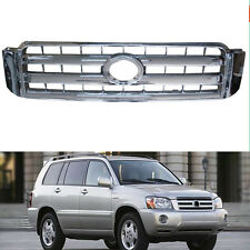 ABS Front Chrome Grille Grill Overlay For Toyota Highlander 2004-2007