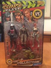 The Corps Elite vs The Curse The Collection Action Figure Set NIB Wall Mart
