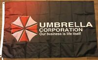 Resident Evil Umbrella Corporation Flag 3x5 Banner Zombies Video Game Man Cave