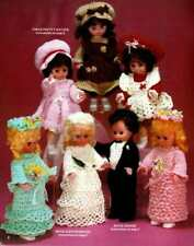 CROCHET FAVORITES Patterns BRIDE GROOM Doll Clothes FLOWERS Holiday DECOR