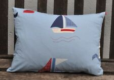 New 12 x16inch reversible zipped cotton cushion, Laura Ashley boats