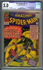 Amazing Spider-Man 11 CGC Graded 3.0 Restored  2nd Doc Ock Marvel Comics 1964