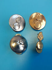 Vtg. Torch Pins WW2 Military Gold/Silver Tone