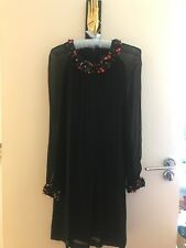 Vestido de fiesta French connection, UK 8, EE. UU. 4, NECKACE y puños de Flores
