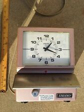 Vintage Amano Time Recorder Punch Clock Industrial Workplace