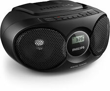 Philips Az215b Portable Boombox CD Player With FM Radio Mp3 Compatible - Black