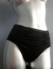 Nwt Victorias Secret Swim Black Retro Ruched Back High Waist Bikini Bottom S