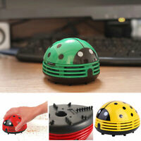 Mini Beetle Shaped Vacuum Cleaner Corner Desktop Table Sweeper Crumb Collector