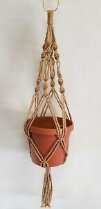 MACRAME PLANT HANGER 24 inch Spiral Style Sand - Choose Color