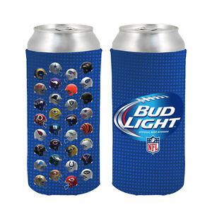 Bud Light NFL 32 Team 3-D Tallboy 24 oz Coolers - 2 Pack