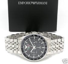 EMPORIO ARMANI AR5983 TEAM ITALIA Black Sportivo Chrono SS Bracelet Men's Watch