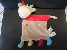 doudou plat girafe vache grise rouge rond MOTS D'ENFANTS