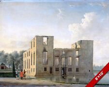 BERCKENRODE CASTLE RUINS HEEMSTEDE NORTH HOLLAND PAINTING ART REAL CANVAS PRINT
