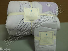 Pottery Barn Kids Pbk Andrea Lavender Bed Quilt Twin Pillow Sham Euro Star