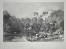 Bothwell Castle on the Clyde (Lan) Original 1835 Antiquarian Scottish Engraving