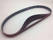 """1"""" x 42"""" Sanding Belts, 5 pack, 80 grit, AL Oxide - Made in USA"""