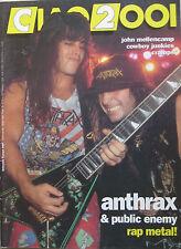 CIAO 2001 8 1992 Anthrax John Mellencamp Cowboy Junkies Cramps Randa Haines Ebb