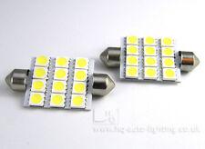 2x 42mm C10W 264 12-SMD 5050 PCB Car LED Interior bulbs Xenon WHITE LAND ROVER