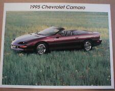 1995 Chevy Camaro Fact Sheet Brochure 95 convertible