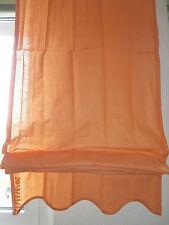 Raffrollo Gardine Vorhang Dekoration orange terra H xB  160 x 60 cm Baumwolle