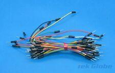65pcs Wire Breadboard plug wire Bread board tie line Bread board cable