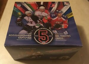 2012-13 KHL SeReal trading cards collection 5 season one unopened box 50 packs