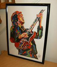 Angus Young, AC/DC, Guitar Player, Hard Rock, Blues Rock, 18x24 POSTER w/COA
