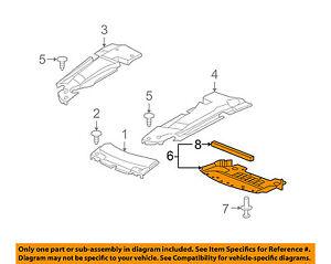 Cadillac GM OEM 05-09 STS Splash Shield-Underbody Under Engine Cover 25802477