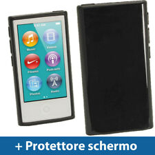 Nero Custodia TPU Gel per Apple iPod Nano 7 Gen Generazione 7G Cover Case Rigida