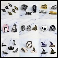 Miss Zoe 2~7pcs/set Punk Dark Black Brooches Badges For Lapel Enamel Pin Gothic