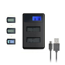 for Canon 700D 550D 600D T2i T4i T5i LP-E8 Dual LCD Display USB Battery Charger