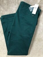 """LACOSTE MEN'S GREEN SLIM FIT CHINOS TROUSERS PANTS HH955300E76 - 36"""" - NEW TAGS"""