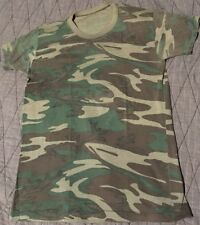 Vtg 80s 90s Camo Army Shirt L Single Stitch USA Made Thin Faded Distressed Soft