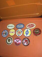 VTG Wheaties Cereal 1950's Premium Prize Automobile Car Tin Emblem Badge Lot