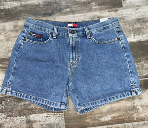 Tommy Hilfiger Vintage Jean Shorts Size 9 Light Wash High Rise Free Shipping