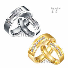 Cubic Zirconia Silver Plated Band Fashion Rings