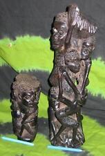 Ethnic WOODEN TRIBAL STATUE AFRICAN ART ALTAR VASE EBONY MASK DOLL totem poll