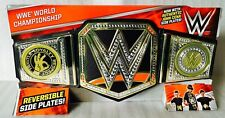 WWE Kids Toy Replica World Heavyweight Title  with John Cena Side Plates