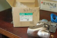 "Ckd Corporation Cve2-15A-05-02Cs-1, 1/2"" Valve, 110V coil, New in Box"