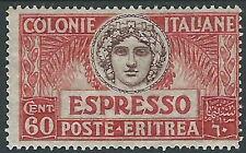 1924 ERITREA ESPRESSO 60 CENT MH * - I44-4