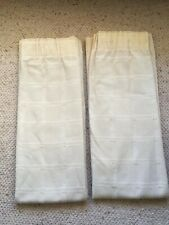 """Pair Lined Heavy Cream Curtains Dunelm Mill Pencil Pleat Check 72x66"""""""