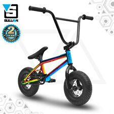 Sullivan Ambush Mini BMX Stunt Freestyle Bike, Jet Fuelled Neo Chrome