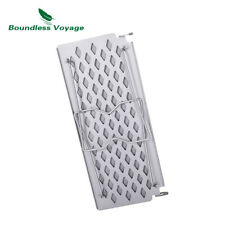 Camping Titanium Folding Grill Frying Plate Small Outdoor Table BBQ Charcoal Net