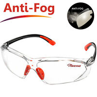 SAFEYEAR Safety Glasses Anti-fog Scratch-resistant UV Eye Protect Neck Cord Z87+