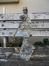Pied de Lampe en CRISTAL Signé Robert SCHNEIDER Vintage 36,5 cm de hauteur