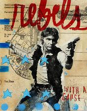 Hans Solo Art Print Ltd Edition Signed 11'x14' Frame-Ready Print Archival Paper
