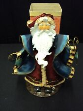 """Metal Santa Clause in front of Chimney Matchstick Holder Decor Statue 12""""  00002A70"""
